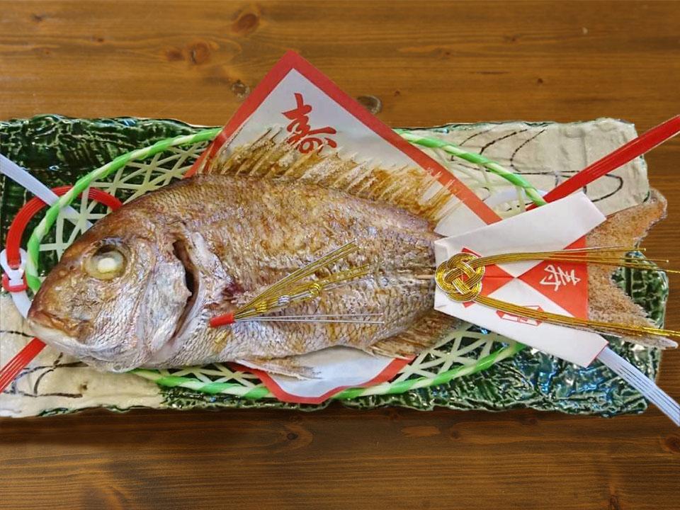 鯛の塩焼き(尾頭付き)